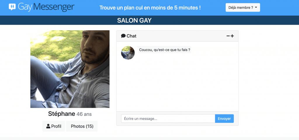 Faire des rencontres sexe sur le site gay Messenger.