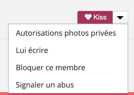 Envoyez un Kiss pour débloquer les photos privées et faire le plein de snap de nudes